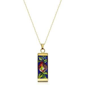 タスカン ジュエルズ Tuscan Jewels レディース ネックレス チャーム ジュエリー・アクセサリー【18K Gold Plated Sterling Silver Necklace w/4 cm Ceramic Charm】Gold
