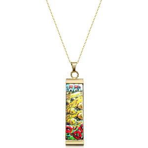 タスカン ジュエルズ Tuscan Jewels レディース ネックレス チャーム ジュエリー・アクセサリー【18K Gold Plated Sterling Silver Necklace w/5 cm Ceramic Charm】Gold