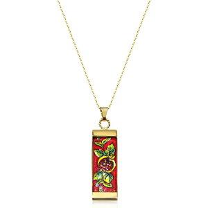 タスカン ジュエルズ Tuscan Jewels レディース ネックレス チャーム ジュエリー・アクセサリー【18K Gold Plated Sterling Silver Necklace w/4cm Ceramic Charm】Gold