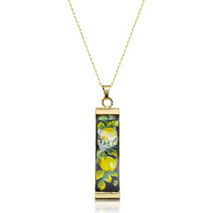 タスカン ジュエルズ Tuscan Jewels レディース ネックレス チャーム ジュエリー・アクセサリー【18K Gold Plated Sterling Silver Necklace w/5 cm Ceramic Charm】