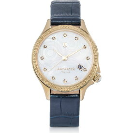 ランカスター Lancaster レディース 腕時計 【Goccia Gold Tone Stainless Steel Watch】Blue