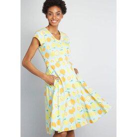 ティーベリー&ウィーブ TeeBerry & Weave レディース ワンピース ミドル丈 ワンピース・ドレス【Quirky Personality Cotton Midi Dress】blue