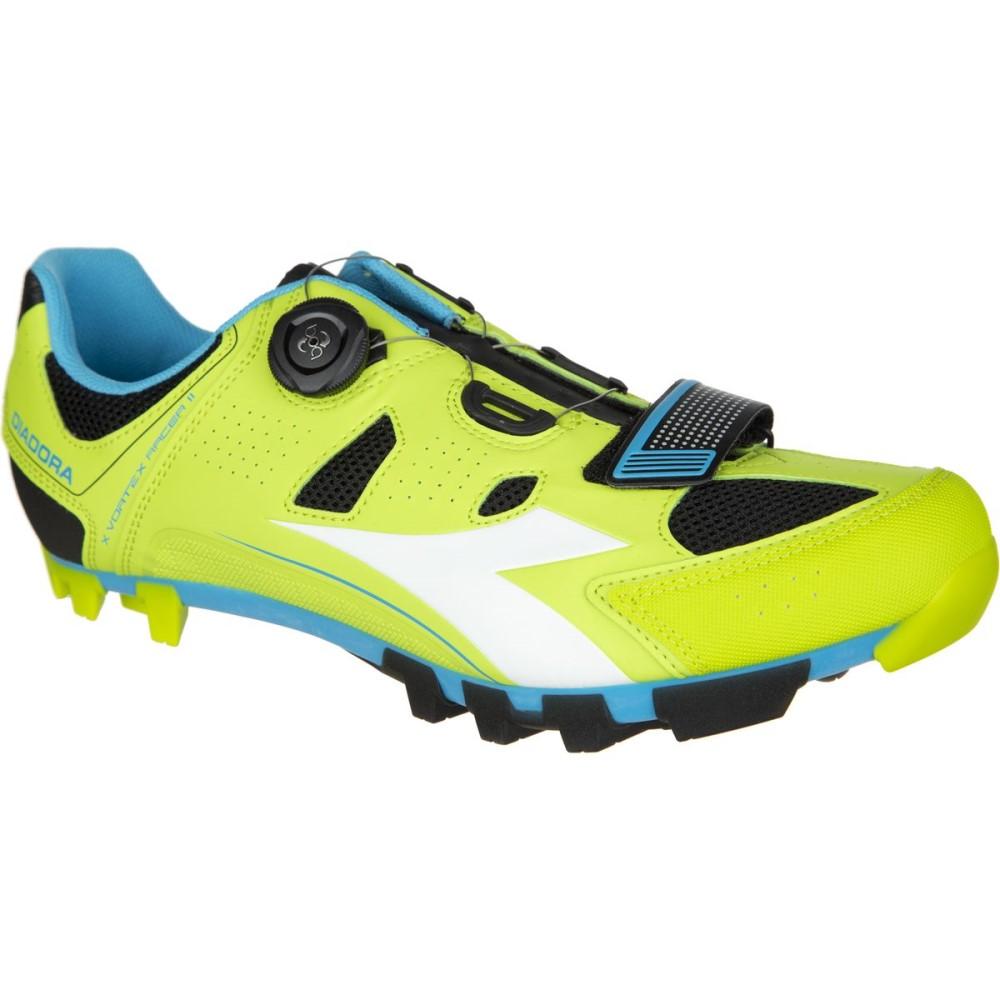 ディアドラ Diadora メンズ サイクリング シューズ・靴【X Vortex - Racer II Shoess】Lime Punch/Blue Fluo