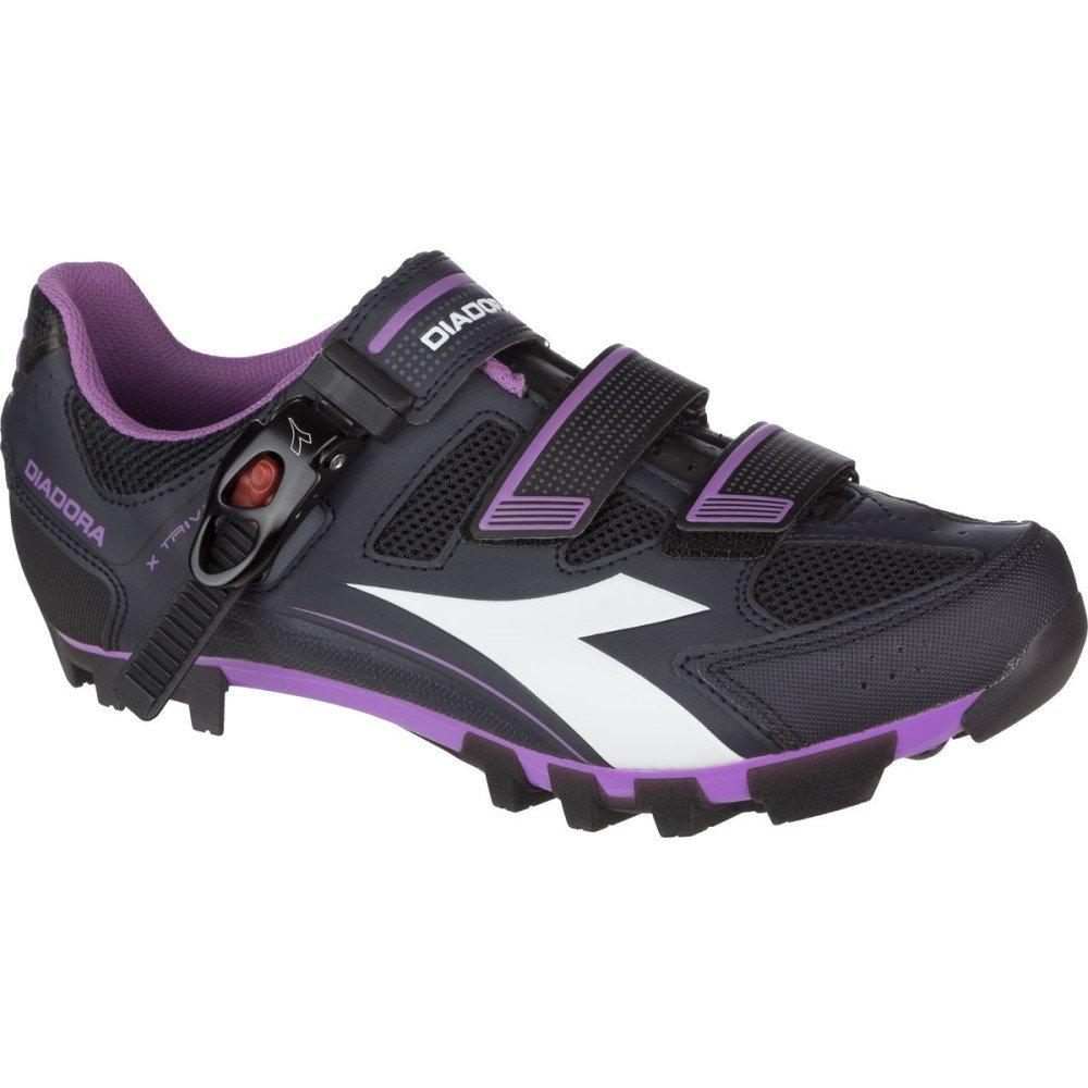 ディアドラ Diadora レディース サイクリング シューズ・靴【X Trivex Plus II Shoe】Dk Smoke/White/Violet Orchid Iris