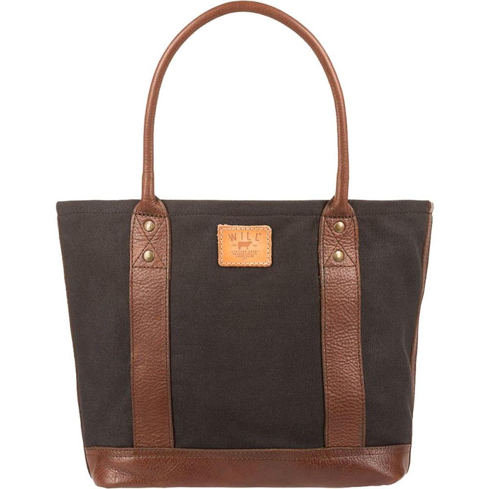 ウィルレザーグッズ Will Leather Goods レディース バッグ トートバッグ【Signature Canvas & Leather Everyday Tote】Black/Brown
