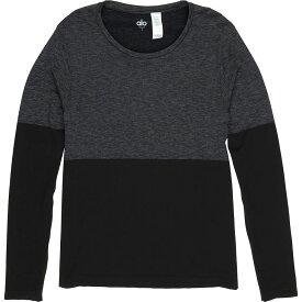 アローヨガ メンズ トップス シャツ【Energy Long - Sleeve Crew Shirts】Black/Graphite Heather