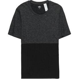 アローヨガ メンズ トップス 半袖シャツ【Energy Crew Shirts】Black/Graphite Heather