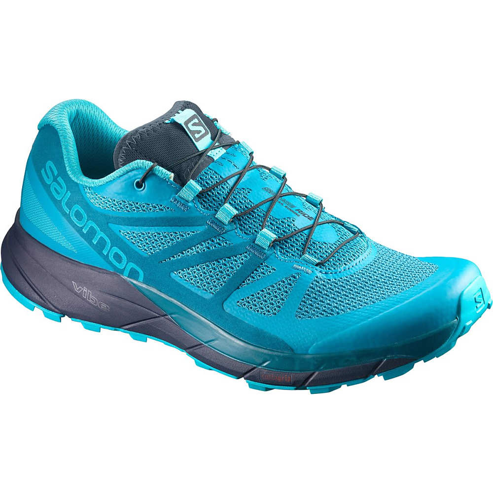 サロモン レディース ランニング・ウォーキング シューズ・靴【Sense Ride Trail Running Shoe】Blue Bird/Deep Lagoon/Navy Blazer