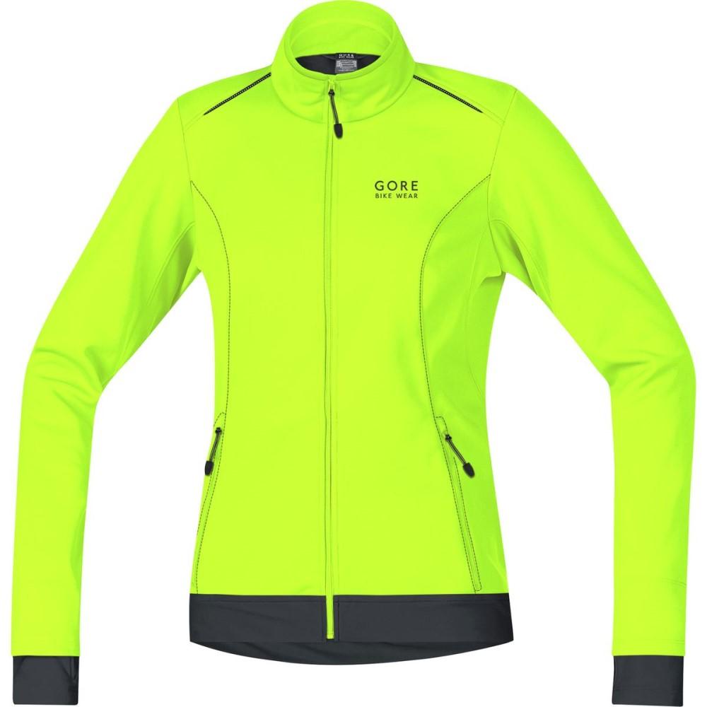 ゴアバイクウェア レディース 自転車 アウター【Element Lady WindStopper Softshell Jacket】Neon Yellow/Black