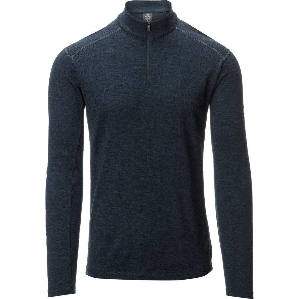 キュール メンズ トップス ニット・セーター【Skar 1/4 - Zip Sweaters】Pirate Blue