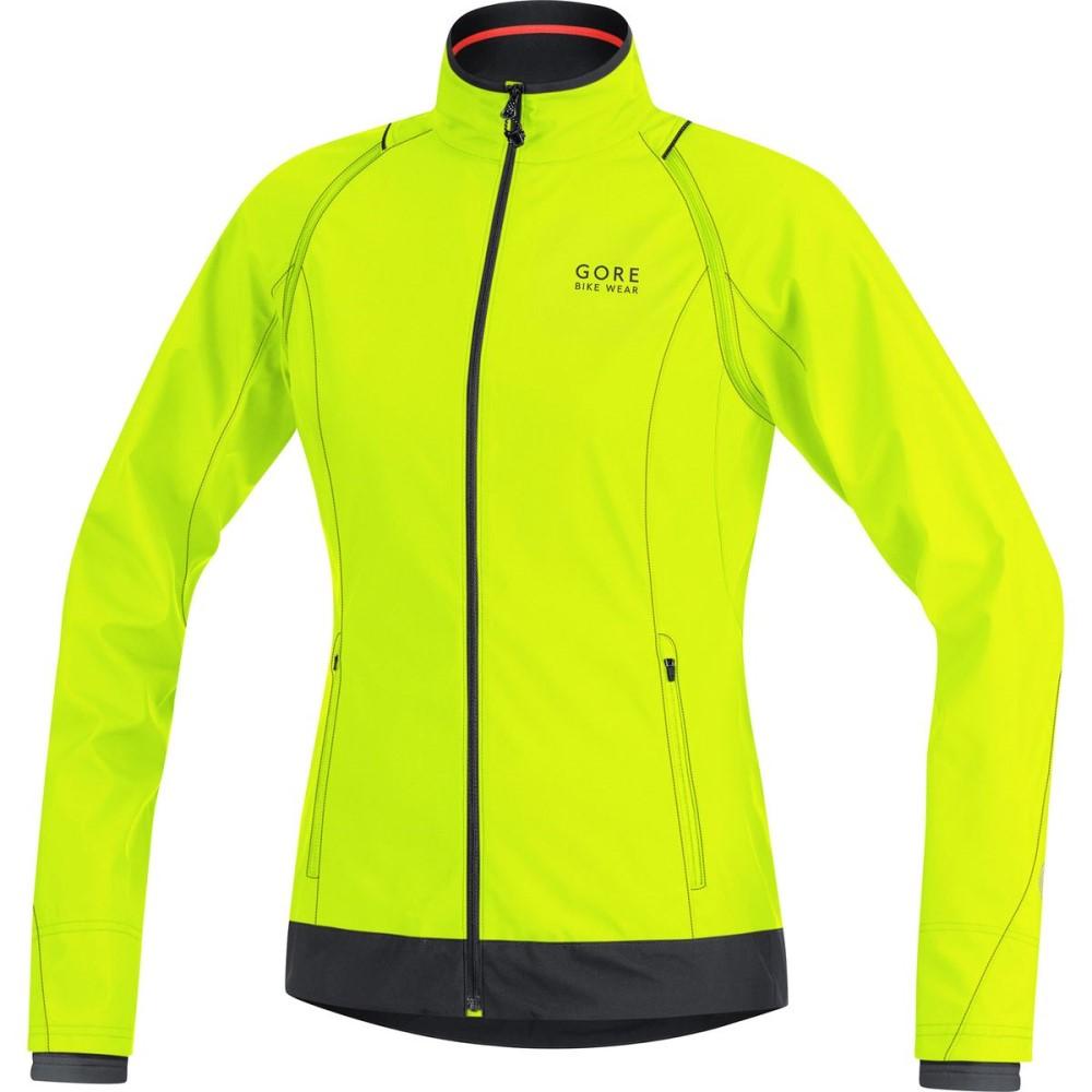 ゴアバイクウェア レディース 自転車 アウター【Element Windstopper Active Shell Zip - Off Jacket】Neon Yellow/Black