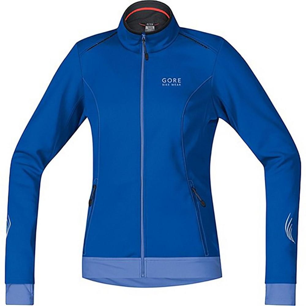 ゴアバイクウェア レディース 自転車 アウター【Element Lady WindStopper Softshell Jacket】Brilliant Blue/Blizzard Blue