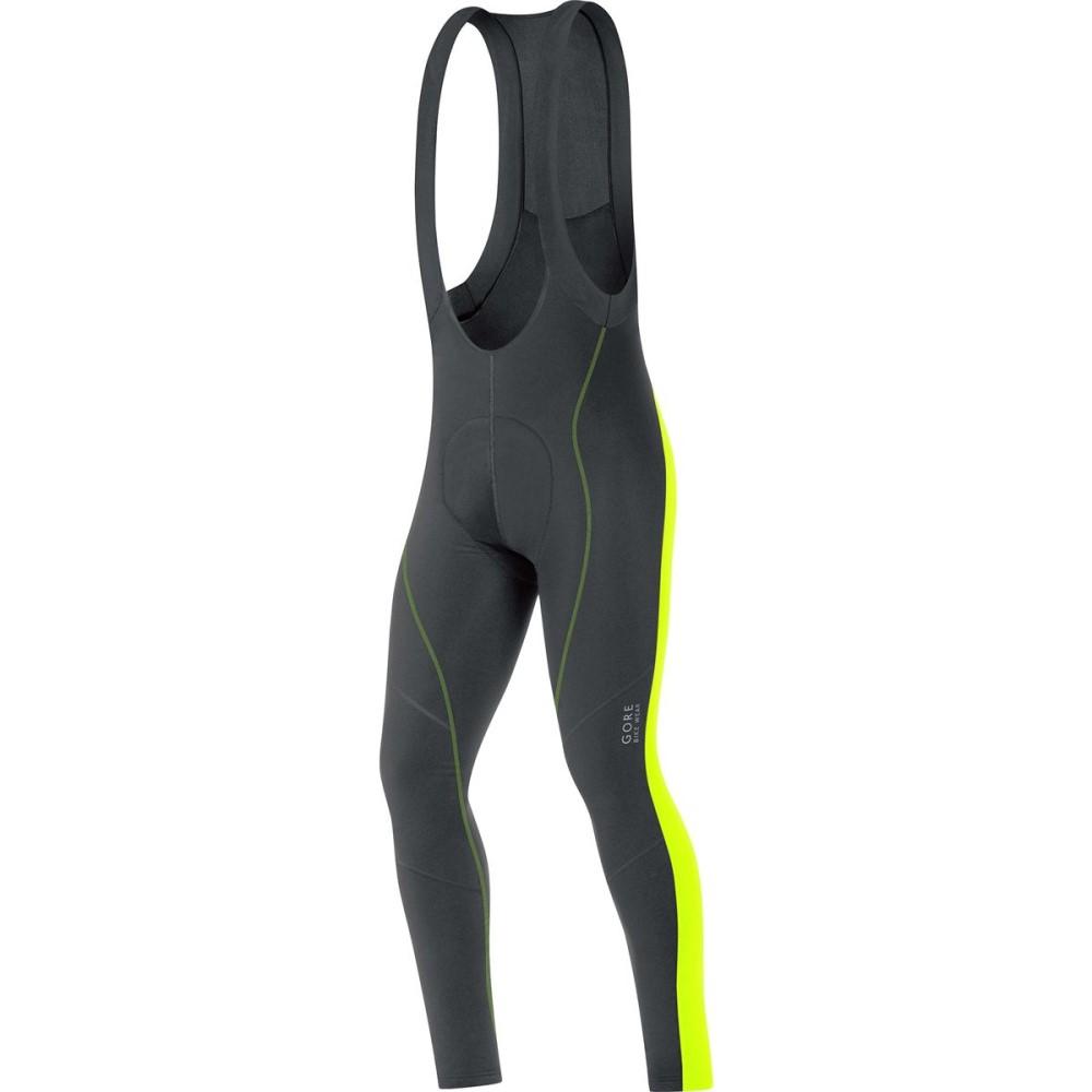 ゴアバイクウェア メンズ 自転車 ボトムス・パンツ【Element 2.0 Thermo Bib Tight+s】Black/Neon Yellow
