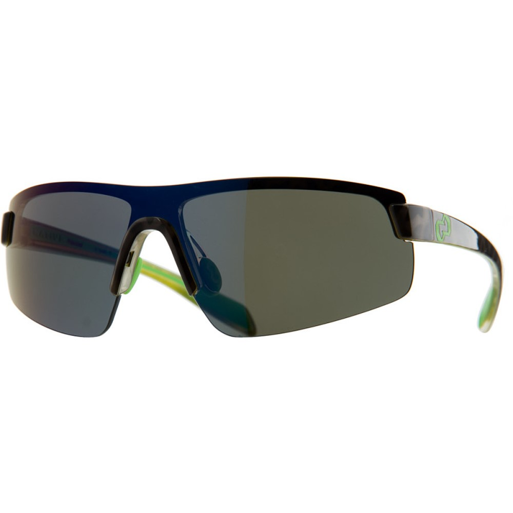 ネイティブアイウェア レディース スポーツサングラス【Lynx Sunglasses - Polarized】Black Lime Burst/Blue Reflex