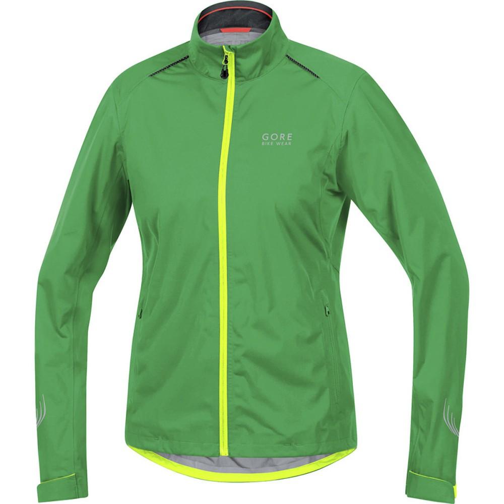 ゴアバイクウェア レディース 自転車 アウター【Element Lady Gore - Tex Active Jacket】Fresh Green/Neon Yellow