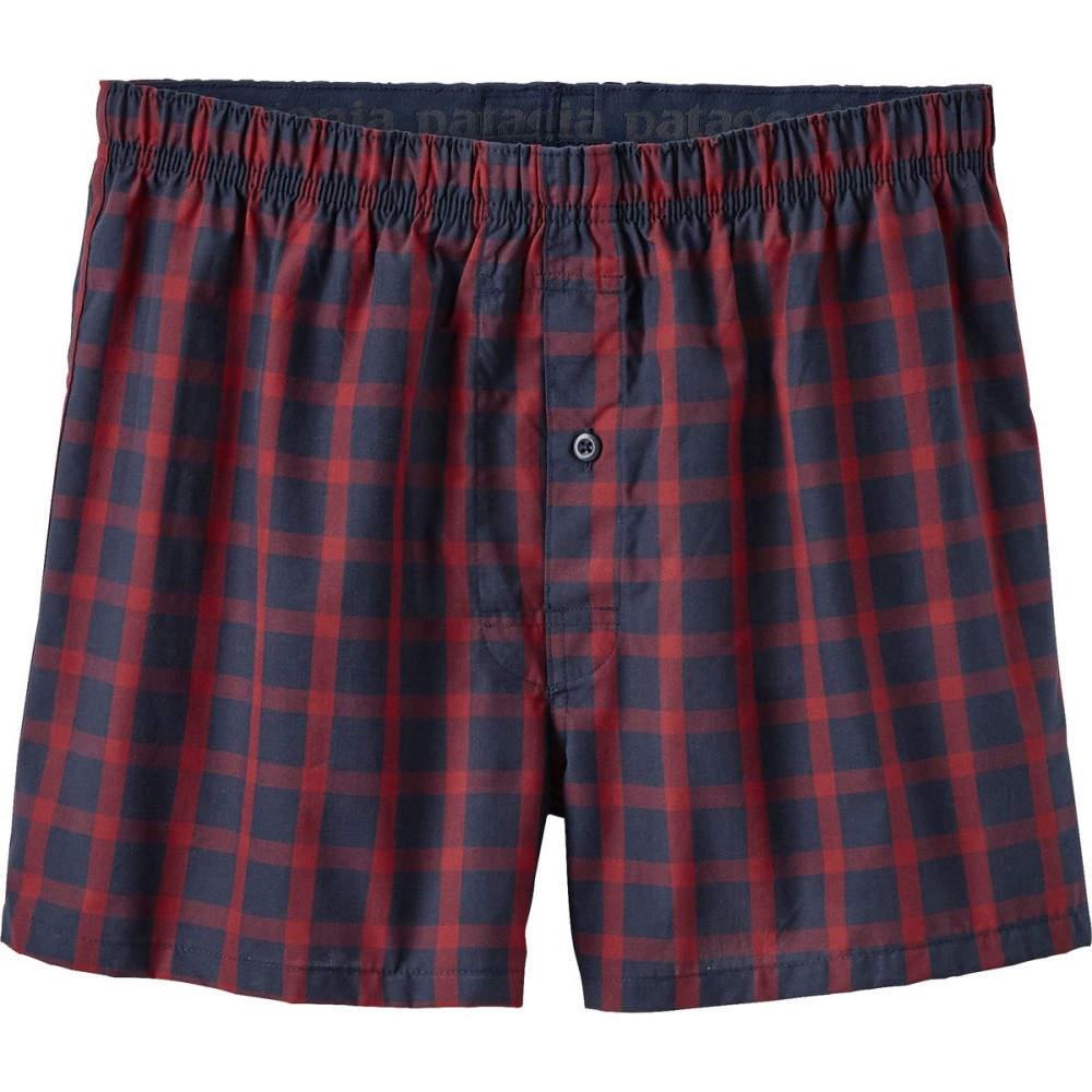 パタゴニア メンズ インナー・下着 ボクサーパンツ【Go - To Boxers】Lodge Pine/Navy Blue