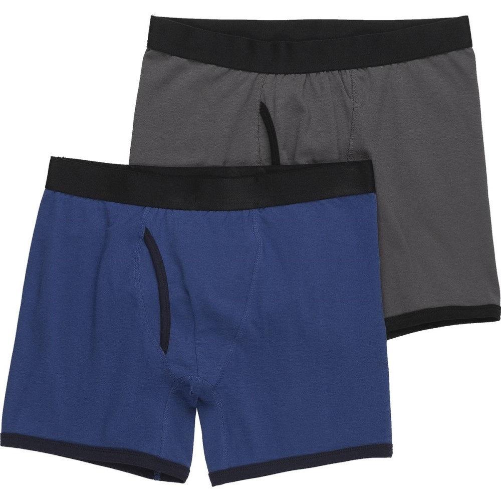ストイック メンズ インナー・下着 ボクサーパンツ【Cotton Stretch Boxers 2 - Packs】Grey & Royal
