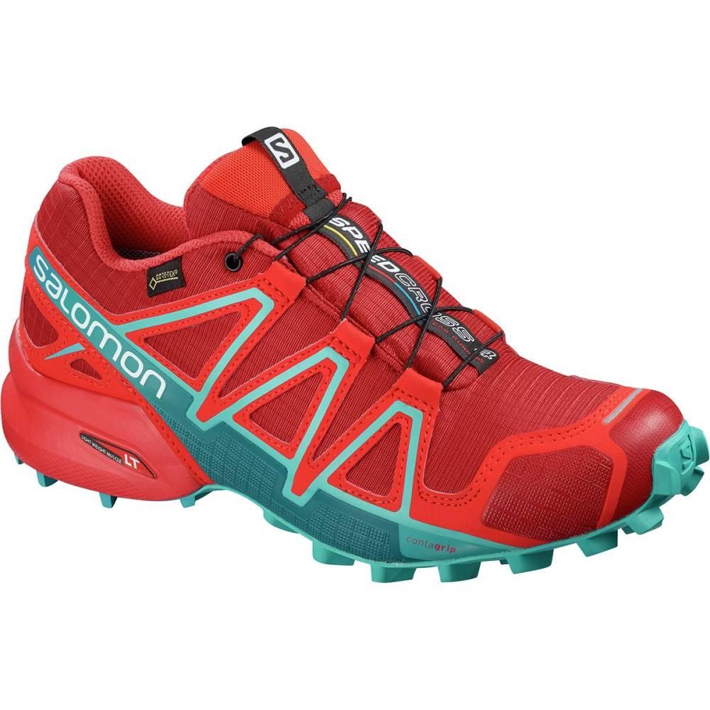 サロモン レディース ランニング・ウォーキング シューズ・靴【Speedcross 4 GTX Trail Running Shoe】Barbados Cherry/Poppy Red/Deep Lagoon
