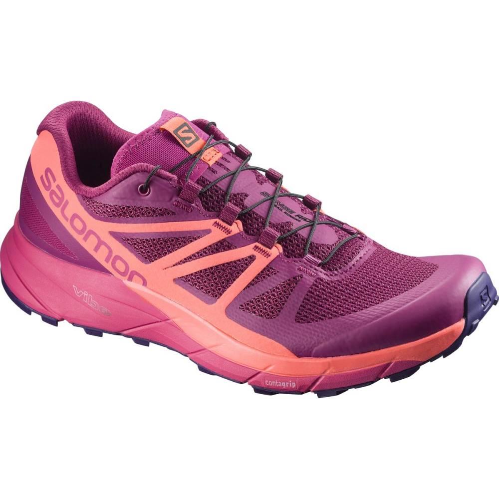 サロモン レディース ランニング・ウォーキング シューズ・靴【Sense Ride Trail Running Shoe】Sangria/Living Coral/Virtual Pink