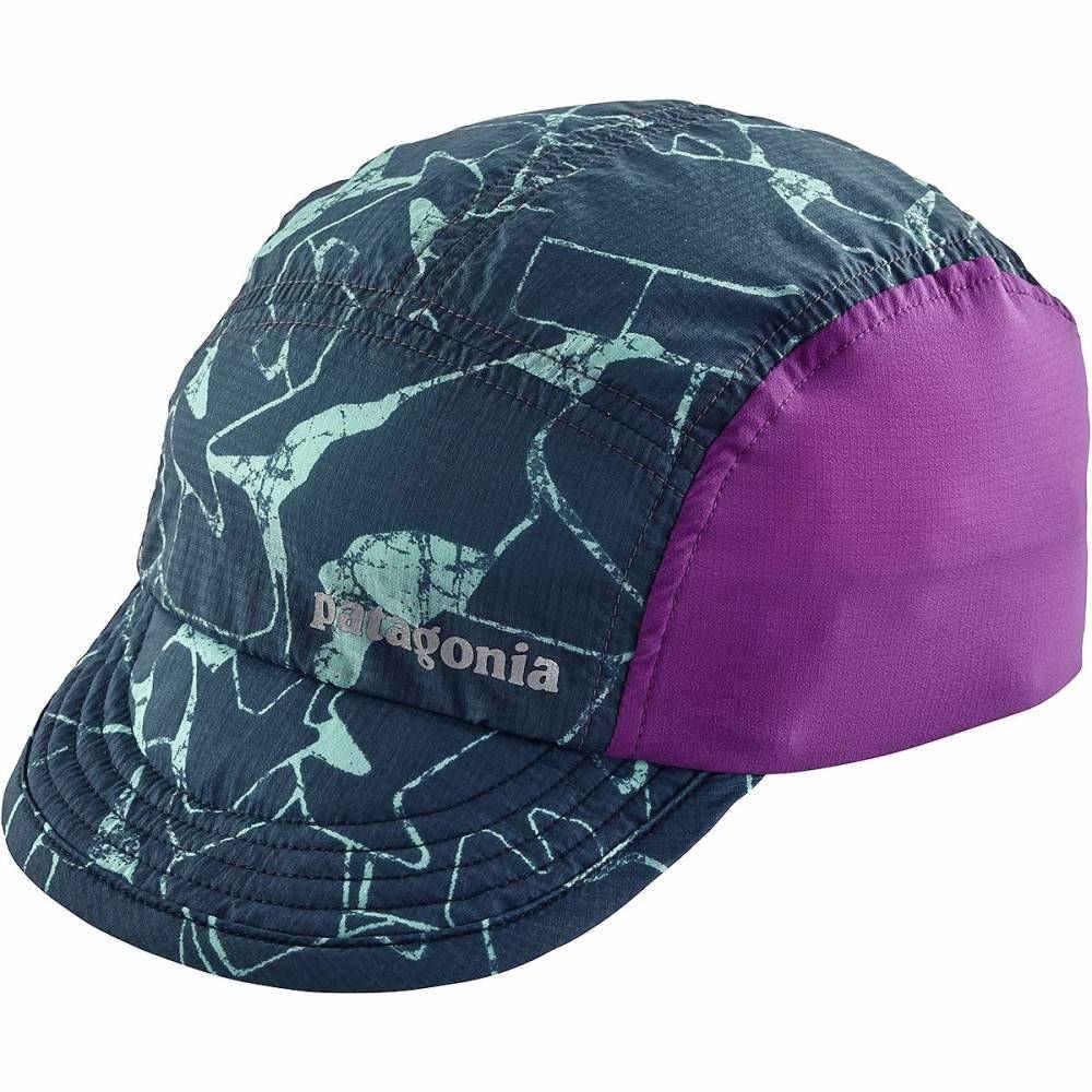 パタゴニア レディース ランニング・ウォーキング【Airdini Cap】Rock Jigsaw/Dolomite Blue