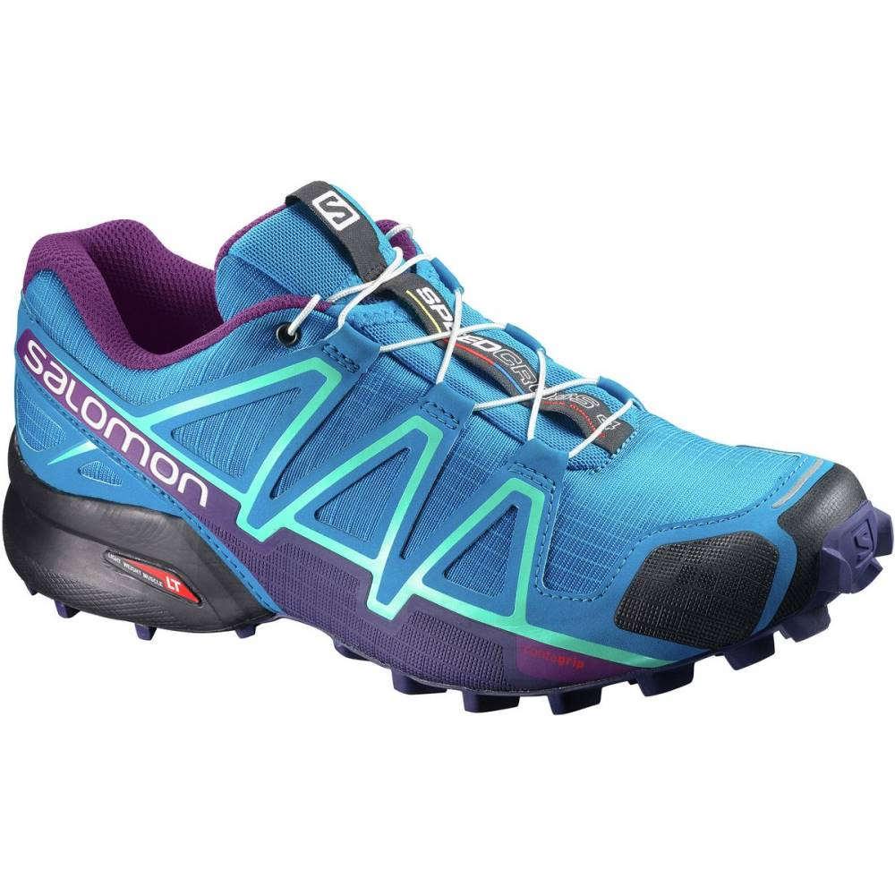 サロモン レディース ランニング・ウォーキング シューズ・靴【Speedcross 4 Trail Running Shoe】Hawaiian Surf/Astral Aura/Grape Juice