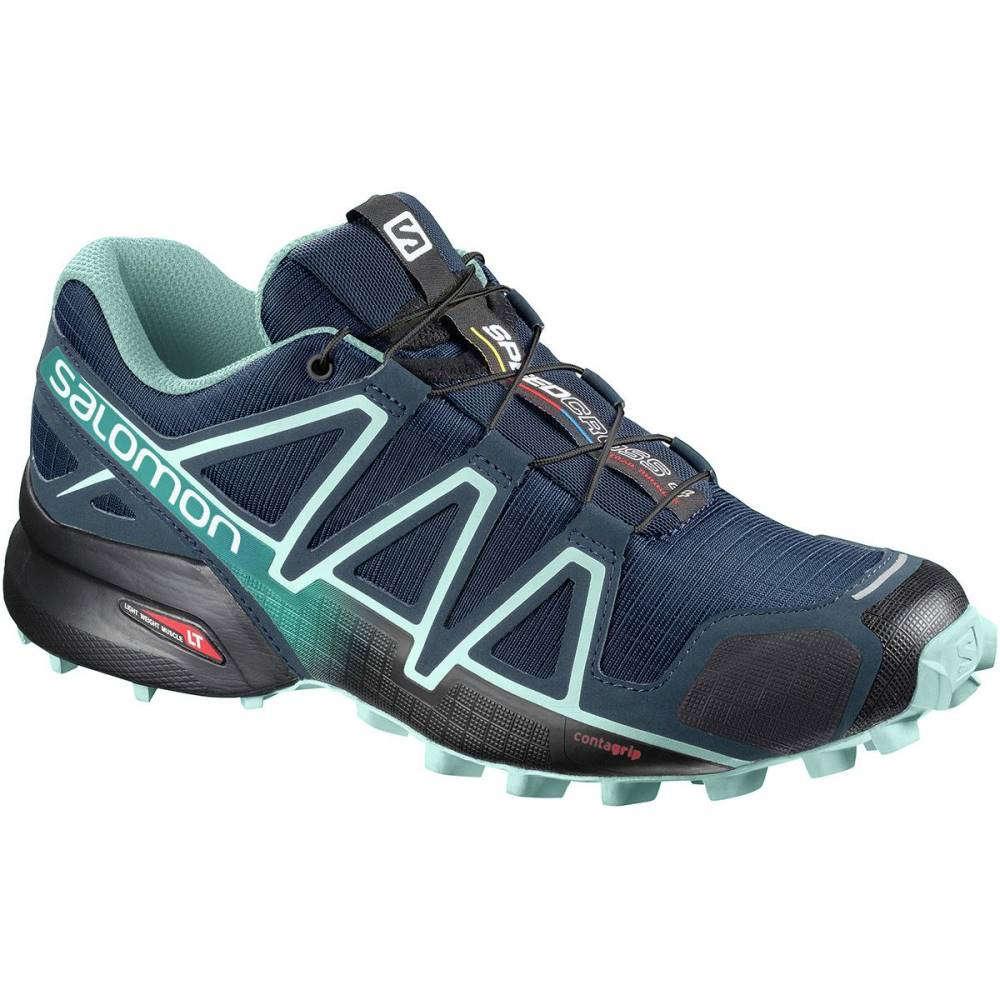 サロモン レディース ランニング・ウォーキング シューズ・靴【Speedcross 4 Trail Running Shoe】Poseidon/Eggshell Blue/Black
