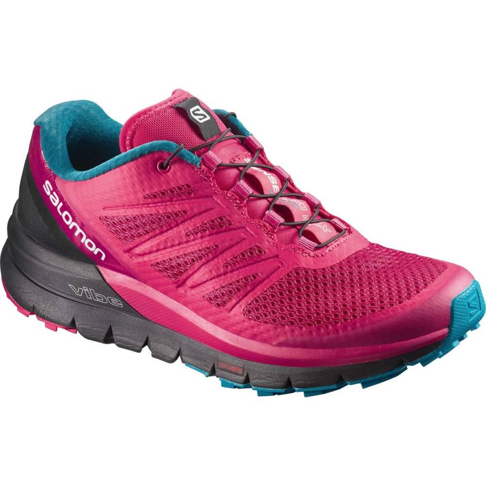 サロモン レディース ランニング・ウォーキング シューズ・靴【Sense Pro Max Trail Running Shoe】Virtual Pink/Black/Enamel Blue