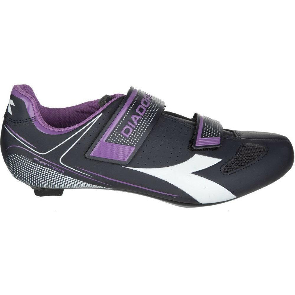 ディアドラ レディース 自転車 シューズ・靴【Phantom II Cycling Shoes】Dk Smoke/White/Violet Orchid Iris