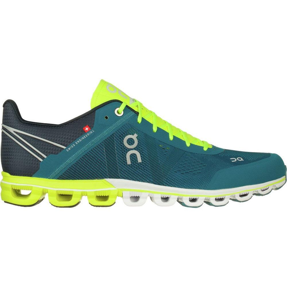 オン メンズ ランニング・ウォーキング シューズ・靴【Cloudflow Running Shoes】Petrol/Neon