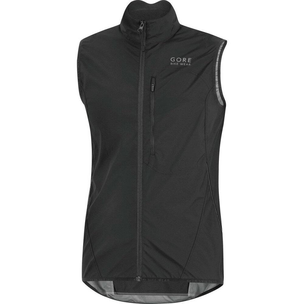 ゴアバイクウェア メンズ 自転車 トップス【Element WindStopper Active Shell Vests】Black