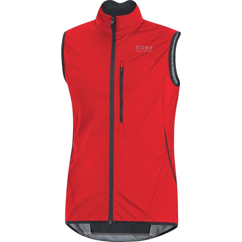 ゴアバイクウェア メンズ 自転車 トップス【Element WindStopper Active Shell Vests】Red