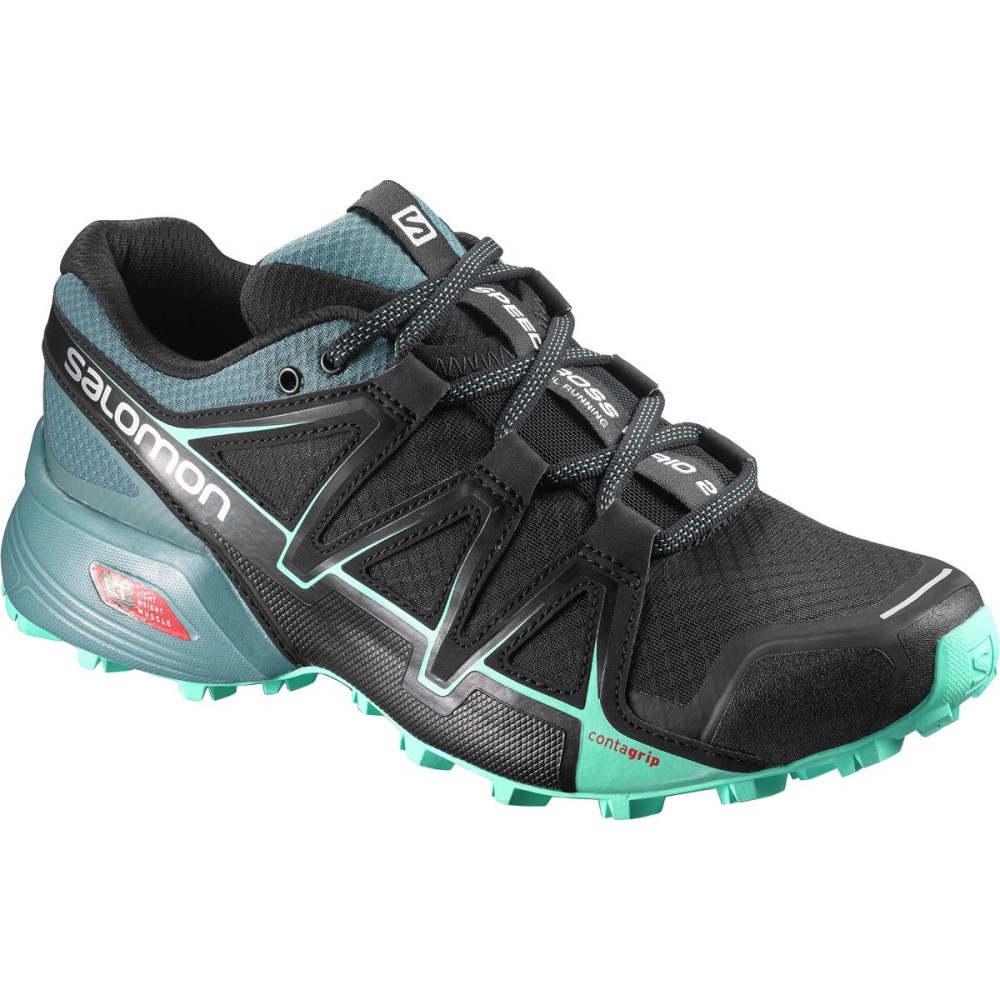 サロモン レディース ランニング・ウォーキング シューズ・靴【Speedcross Vario 2 Trail Running Shoe】Black/North Atlantic/Biscay Green