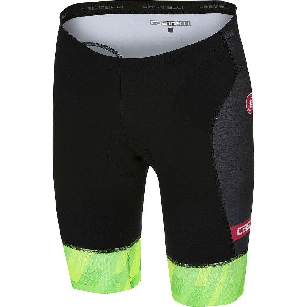 カステリ メンズ トライアスロン ボトムス・パンツ【Free Tri Shorts】Black/Pro Green