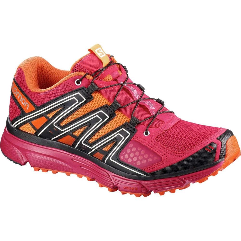 サロモン レディース ランニング・ウォーキング シューズ・靴【X - Mission 3 Trail Running Shoe】Virtual Pink/Cerise/Nasturtium.