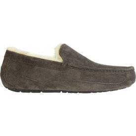 アグ メンズ シューズ・靴 スリッパ【Ascot Slippers】Charcoal (Suede)