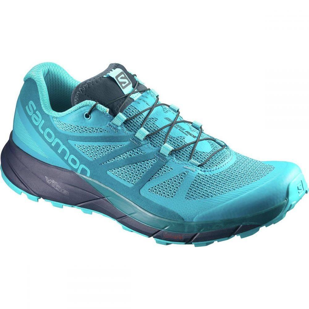サロモン レディース ランニング・ウォーキング シューズ・靴【Sense Ride Trail Running Shoe】Bluebird/Deep Lagoon/Navy Blazer