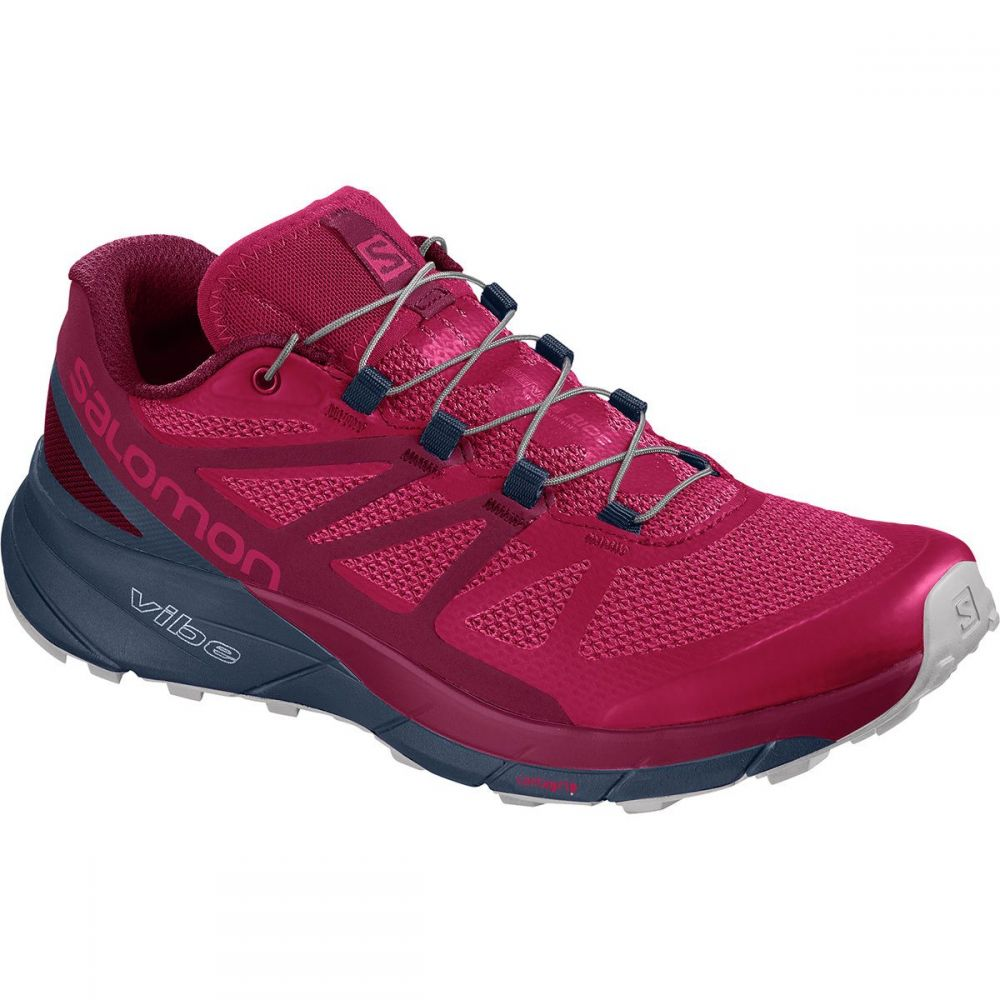 サロモン レディース ランニング・ウォーキング シューズ・靴【Sense Ride Trail Running Shoe】Cerise/Navy Blazer/Vapor Blue