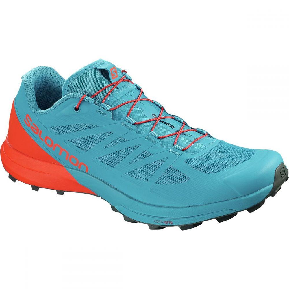 サロモン メンズ ランニング・ウォーキング シューズ・靴【Sense Pro 3 Trail Running Shoes】Fjord Blue/Cherry Tomato/Urban Chic