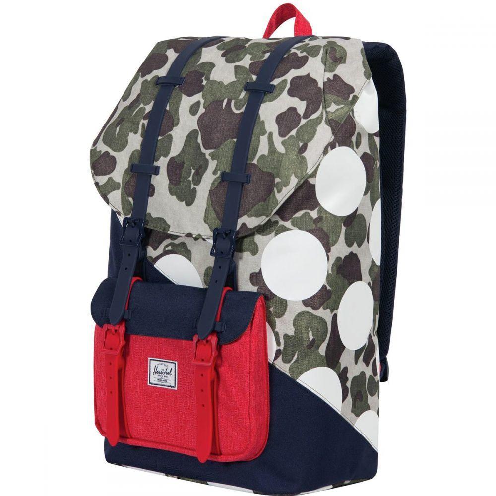 ハーシェル サプライ Herschel Supply レディース バッグ バックパック・リュック【Little America 25L Backpack - Kaleidoscope Collection】Frog Camo/Barbados Cherry/Polka Dot