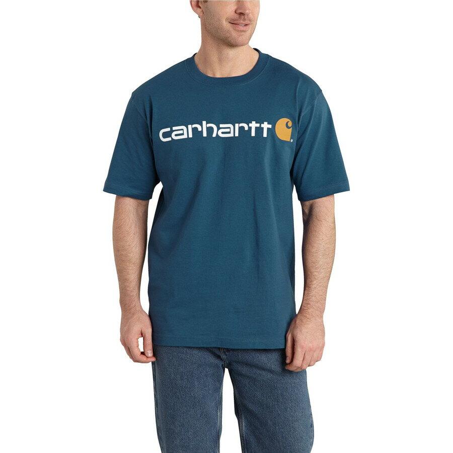 カーハート Carhartt メンズ トップス Tシャツ【Logo T-Shirt】Stream Blue