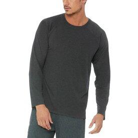 アローヨガ Alo Yoga メンズ トップス 長袖Tシャツ【Triumph Long - Sleeve Shirts】Charcoal Black Triblend