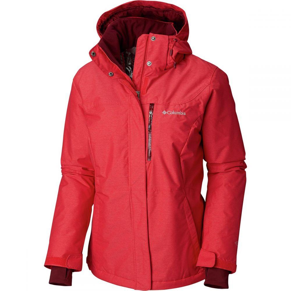 コロンビア Columbia レディース スキー・スノーボード アウター【Alpine Action Omni - Heat Hooded Jacket】Red Mercury