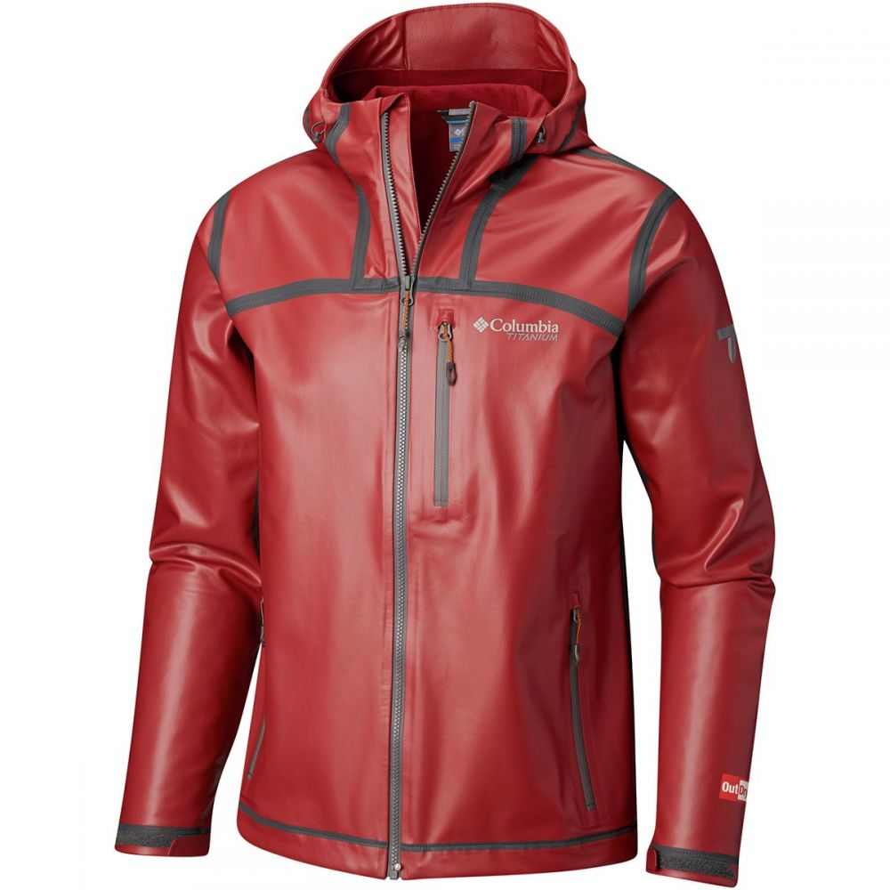 コロンビア Columbia メンズ アウター レインコート【Titanium Outdry Ex Stretch Hooded Shell Jackets】Red Element