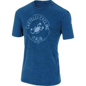 カステリ Castelli メンズ 自転車 トップス【Armando Short - Sleeve T - Shirts】Melange Blue