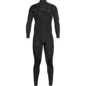 クイックシルバー Quiksilver メンズ 水着・ビーチウェア ウェットスーツ【4/3 Monochrome GBS A - Zip Steamer Wetsuits】Black