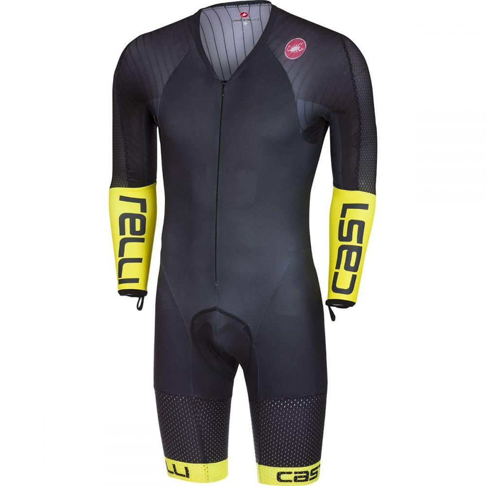 カステリ Castelli メンズ トライアスロン トップス【Body Paint 3.3 Long - Sleeve Speed Suits】Black/Yellow Fluo