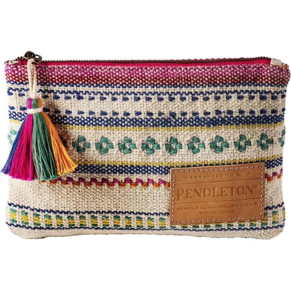 ペンドルトン Pendleton レディース 財布【Paloma Stripe Zip Pouch】Bright Stripe