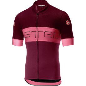 カステリ Castelli メンズ 自転車 トップス【Prologo VI Jerseys】Barbaresco Red/Pink/Granata Red