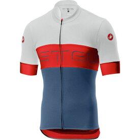 カステリ Castelli メンズ 自転車 トップス【Prologo VI Jerseys】Ivory/Red/Light Steel Blue