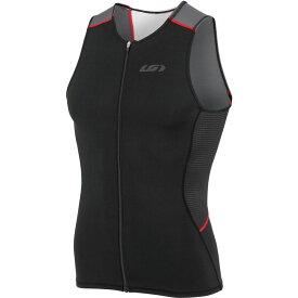 ルイガノ Louis Garneau メンズ トライアスロン トップス【Tri Comp Sleeveless Jerseys】Black/Gray/Red